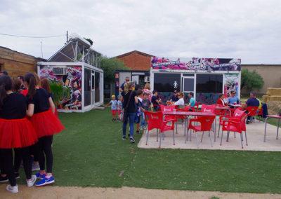 Zona de terraza y bar Xtreme Park